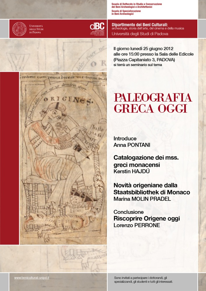 The Rediscovery of Origen's Homilies on the Psalms (Bayerische Staatsbibliothek, Cod. graec. 314) (2/2)