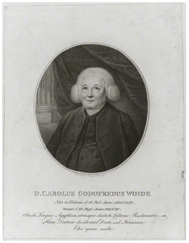 NPG D14155; Charles Godfrey Woide by Francesco Bartolozzi
