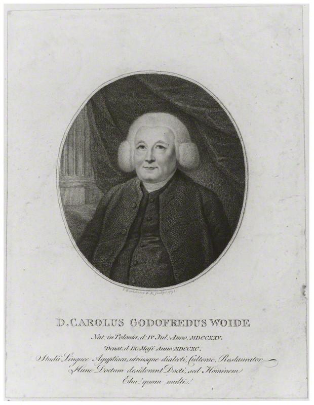 NPG D14155; Charles Godfrey Woide by Francesco Bartolozzi