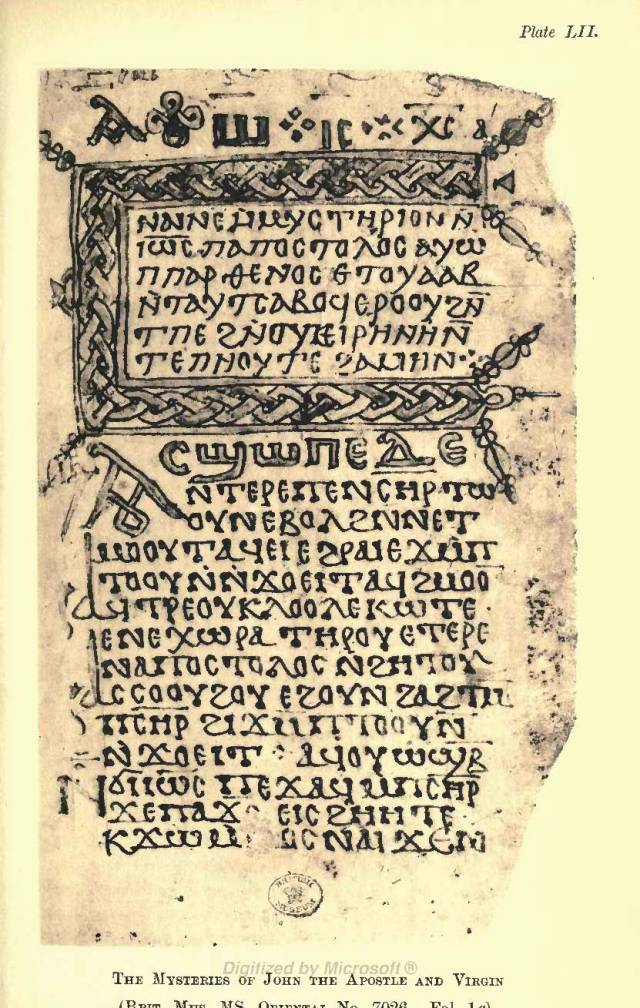 Pages from Budge-Coptic Apocrypha